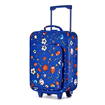 Niños Deportes Azul Patrón Rolling vertical maleta ...