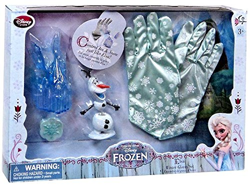Iridescent Winter Costumes (Disney Store Frozen Elsa Winter Gloves Costume Accessory Set)