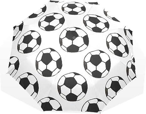 GUKENQ - Paraguas de Viaje, diseño de balón de fútbol, Color ...