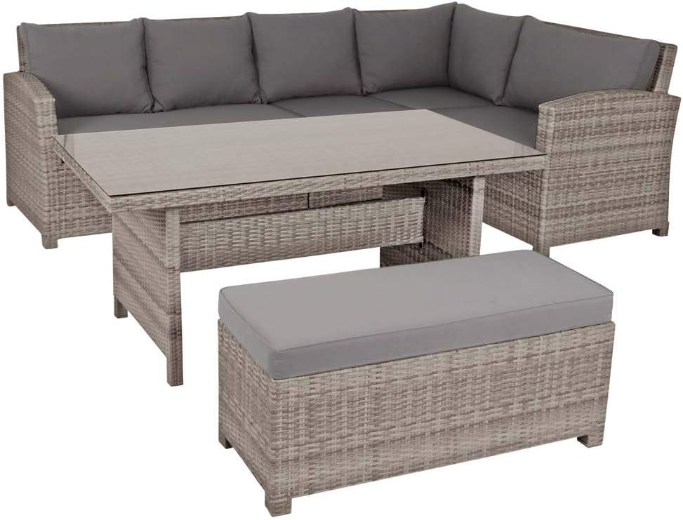 acamp Bermuda Lounge Set 6-teilig Aluminium mit Flex-Mesh Geflecht