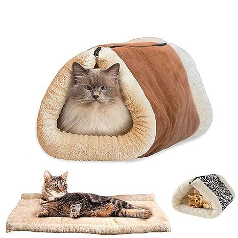 HanryDong - Manta de lana para cama de gato, 2 en 1, 88,9 cm ...