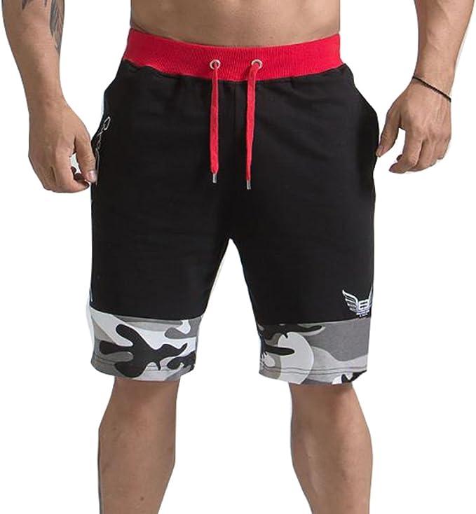 Juqilu Hombre Pantalones Cortos Deportivos - Bermudas Pantalones ...