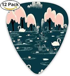 Sherly Yard 12 Pack Púas de guitarra personalizadas Patrón de dibujos animados de cisne Bajo estándar Guitarrista Regalos de música: Amazon.es: Instrumentos musicales
