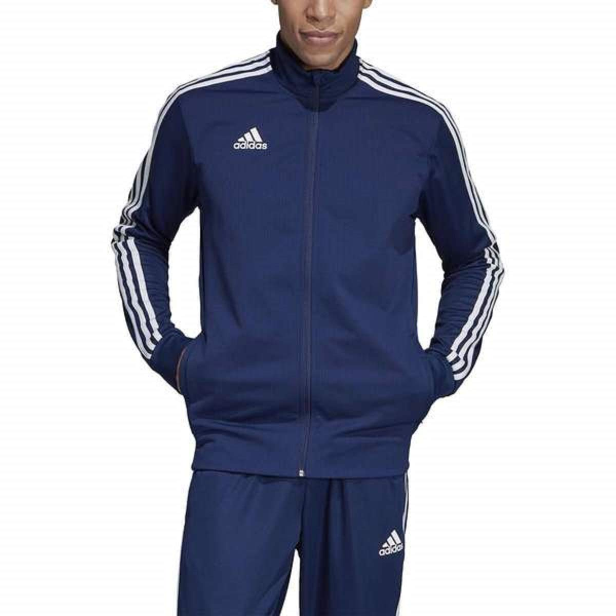 adidas Men's Tiro 19 Track Suit (L Jacket/S Pant, Navy/White) by adidas