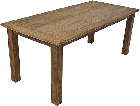 Solid Teak Wood Antique Teak Dining Table Se6 2 In 6 Sizes Available Amazon De Kuche Haushalt