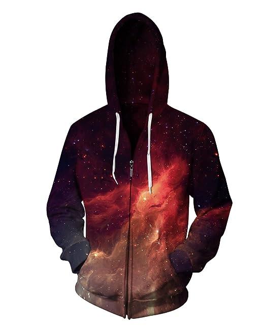 sankill Sudadera con Cremallera Hombres de la Galaxia Colorido 3D Printed Pullover Unisex Harajuku Camiseta de Manga Larga con Capucha: Amazon.es: Ropa y ...