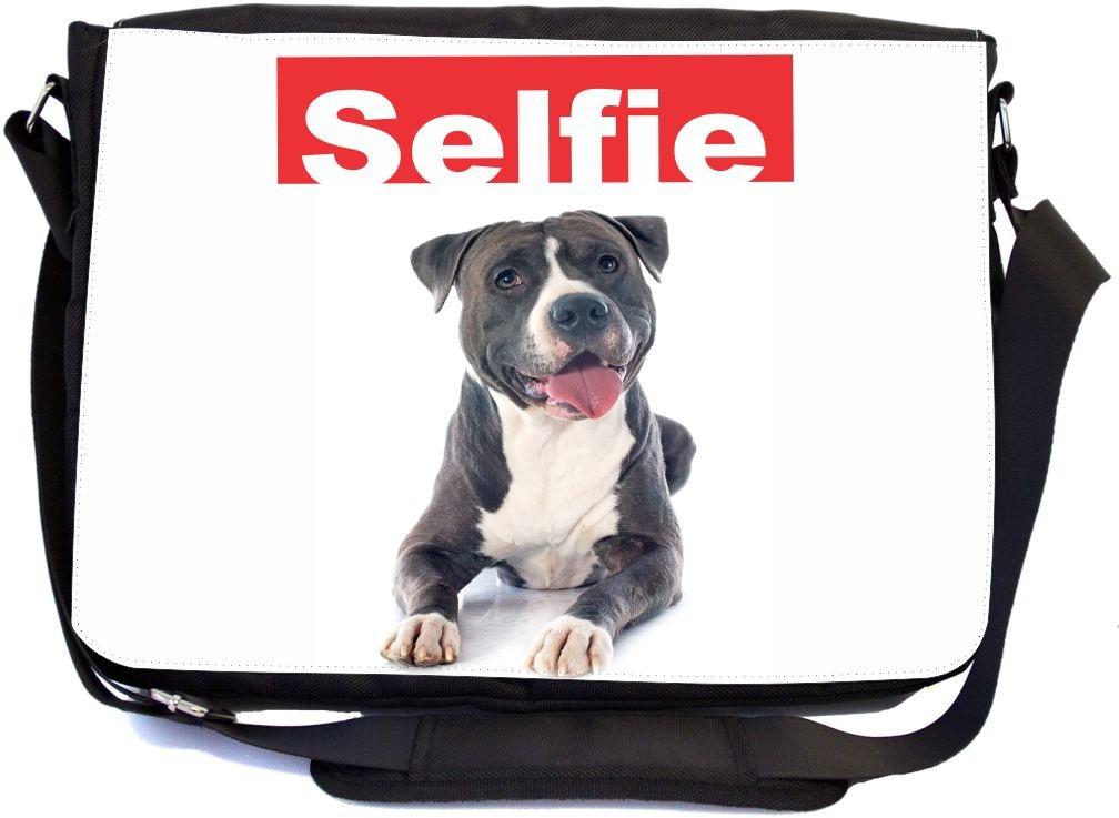 e6d6410f5eb7 hot sale Rikki Knight Selfie Black Pitbull Dog Design ...