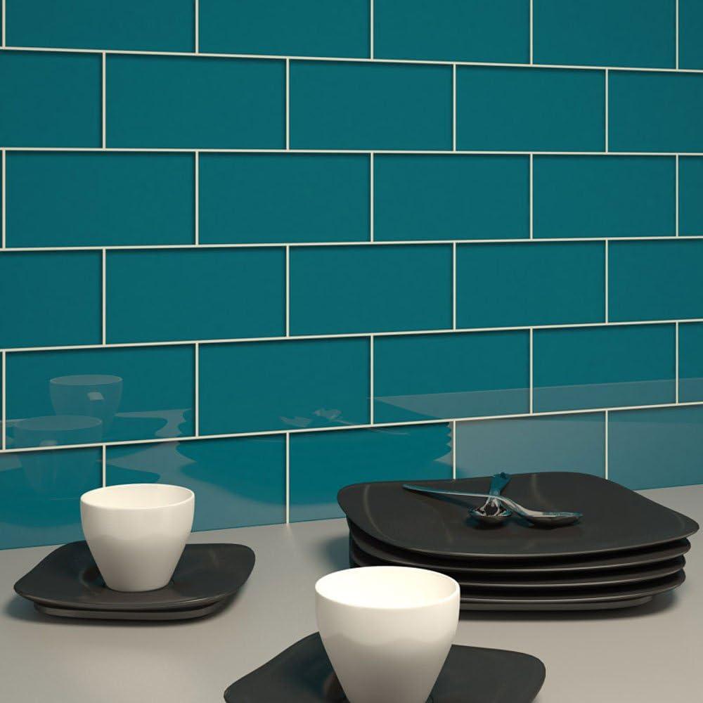 Glas Subway Tile von giorbello blau