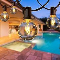 AETKFO Ljusslingor G40 utomhus och inomhus ljusslingor för uteplats, bröllop, jul, trädgård, festdekoration (50 lökar)