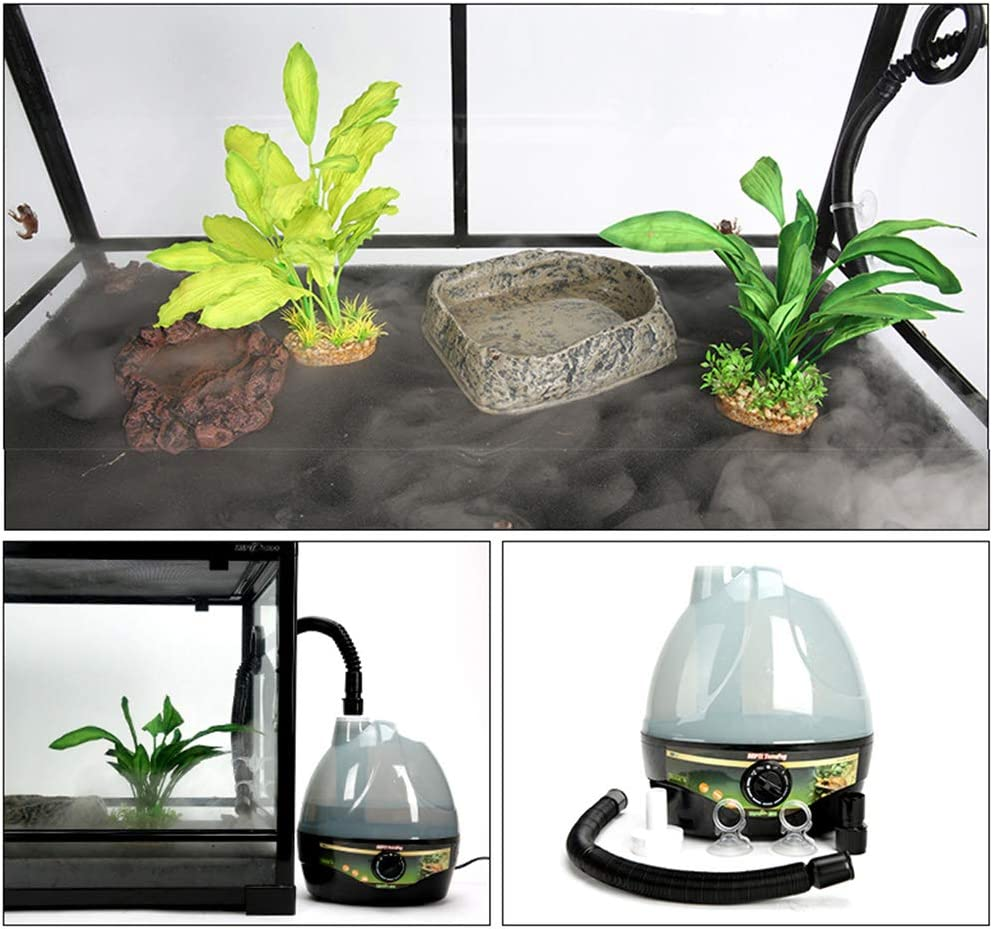 UYT Large-Capacity Portable Pet Air Mister for Snake Turtle Lizards That Can Be Rotated and Adjusted Reptile Air Humidifier Sprayer Air Ecological Rainforest Box Turtle Sprayer Easy-to-use