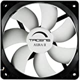 Tacens Aura II - Ventilador para ordenador (9 cm, +60.000 h, sistema anti-polvo), negro