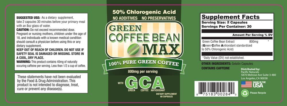 Green Coffee Bean Max, Premium Weight Loss Supplement - 1 Pack by Green Coffee Bean Max