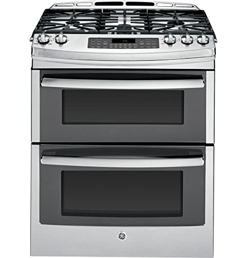 N GE PGS950SEFSS Profile 30u0026quot Stainless Steel Gas SlideIn Sealed Burner Double  Oven Range
