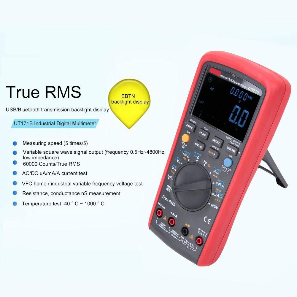 UT171AB Mult/ímetro de la serie UNI-T para prueba de resistencia de corriente de voltaje CC//CA con capacidad de temperatura de frecuencia con termopar tipo K