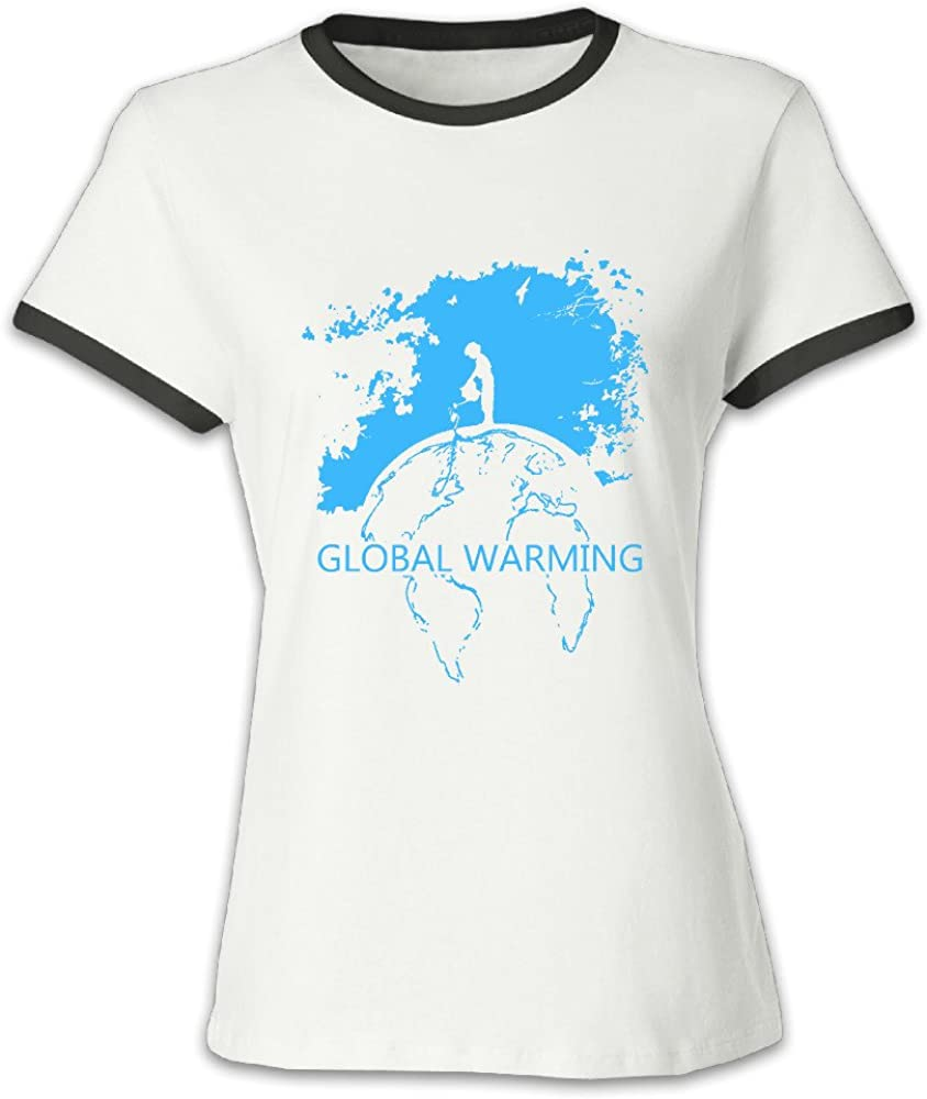 Calentamiento Global store112 niña V-Neck camiseta de ...