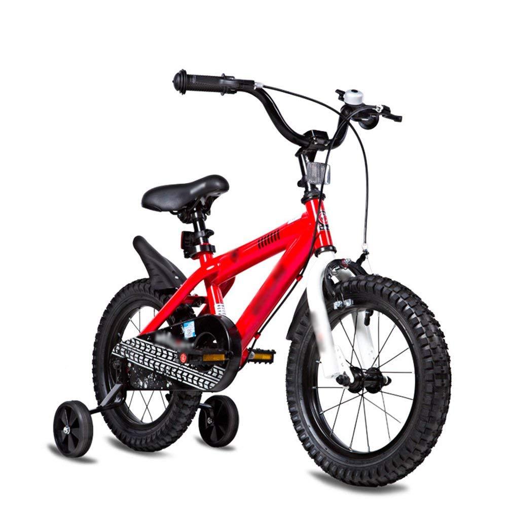 rojo Bicicletas para niños Tamaño opcional 12 pulgadas 14 pulgadas 16 pulgadas 18 pulgadas 20 pulgadas Material de projoección ambiental 6 Colors Opcionales (Color  verde, Tamaño  16 pulgadas) 12 inch