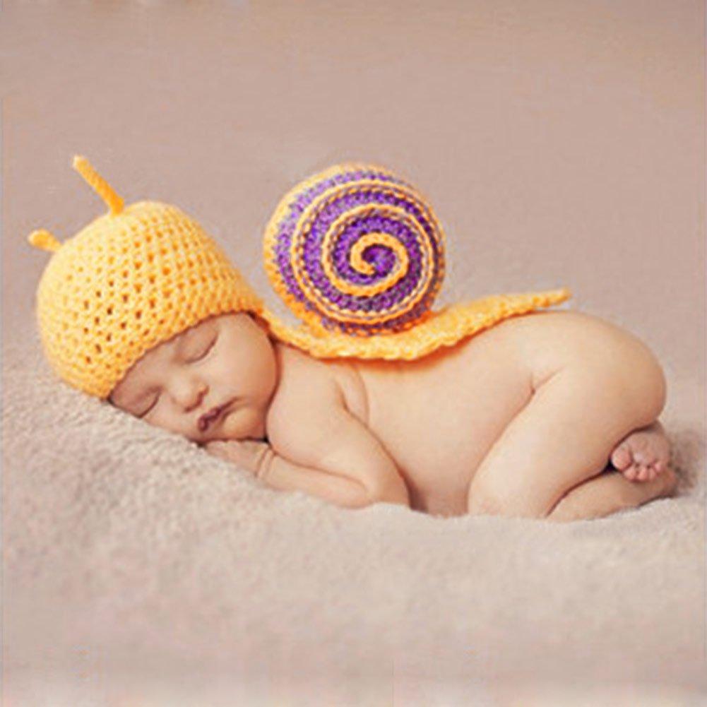 HAPPY ELEMENTS Cute Caterpillar foto props ganchillo capullos Beanie para recién nacido bebé infante
