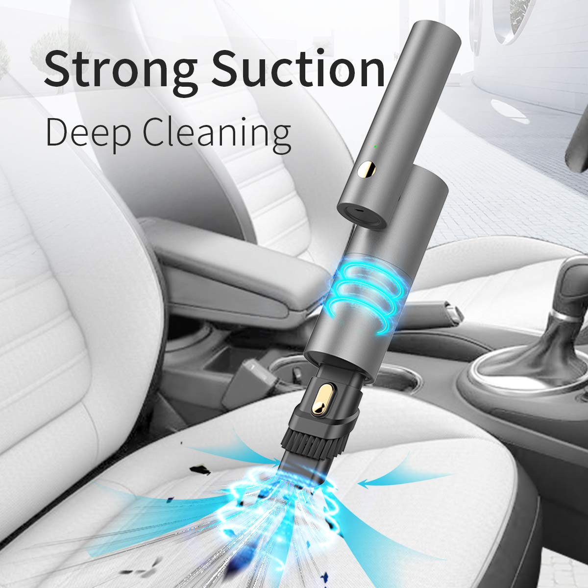 Gray DC 12.6V Cordless Portable Vacuum Cleaner Wet Dry and USB Charging Vac Yantu Handheld Car Vacuum Cleaner Rotatable Mini Vacuum for Car /& Home High Power