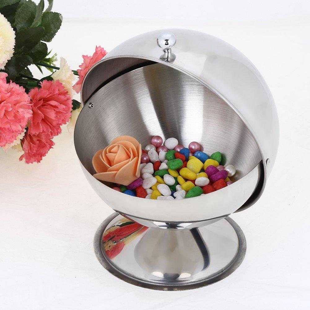 Spice Jar round for Spice adjustment KitchenGet, Stainless Steel Spherical Seasoning Bottle Restaurant Kitchen Spice Storage Container Bowl