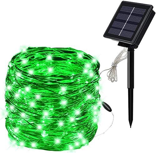 SOLARMKS Christmas Solar String Lights, 8 Modes 72Ft 200 Led Solar Power Fairy Lights Outdoor Indoor Decorative Lights Waterproof for Christmas Holiday Wedding Garden Pathway Green