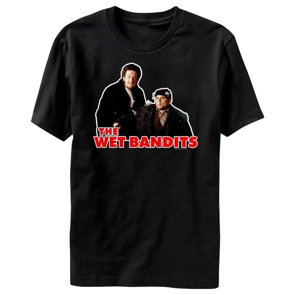 Home Alone The Wet Bandits Adult Black T Shirt