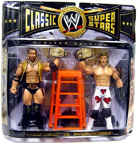 - WWE Jakks Pacific Wrestling Classic Superstars Exclusive Action Figure 2-Pack Ladder Match Razor Ramone & Shawn Michaels