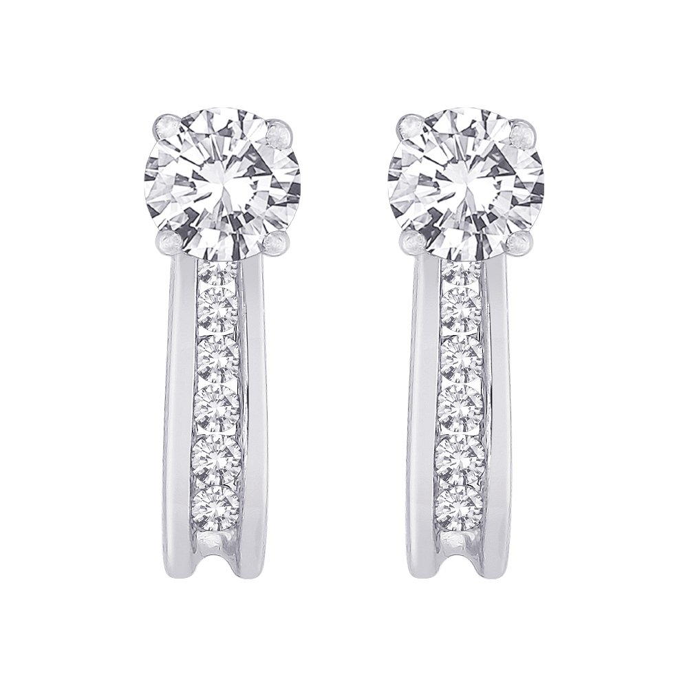 Diamond Earring Jackets in 14K White Gold (1/4 cttw) (Color GH, Clarity I1)
