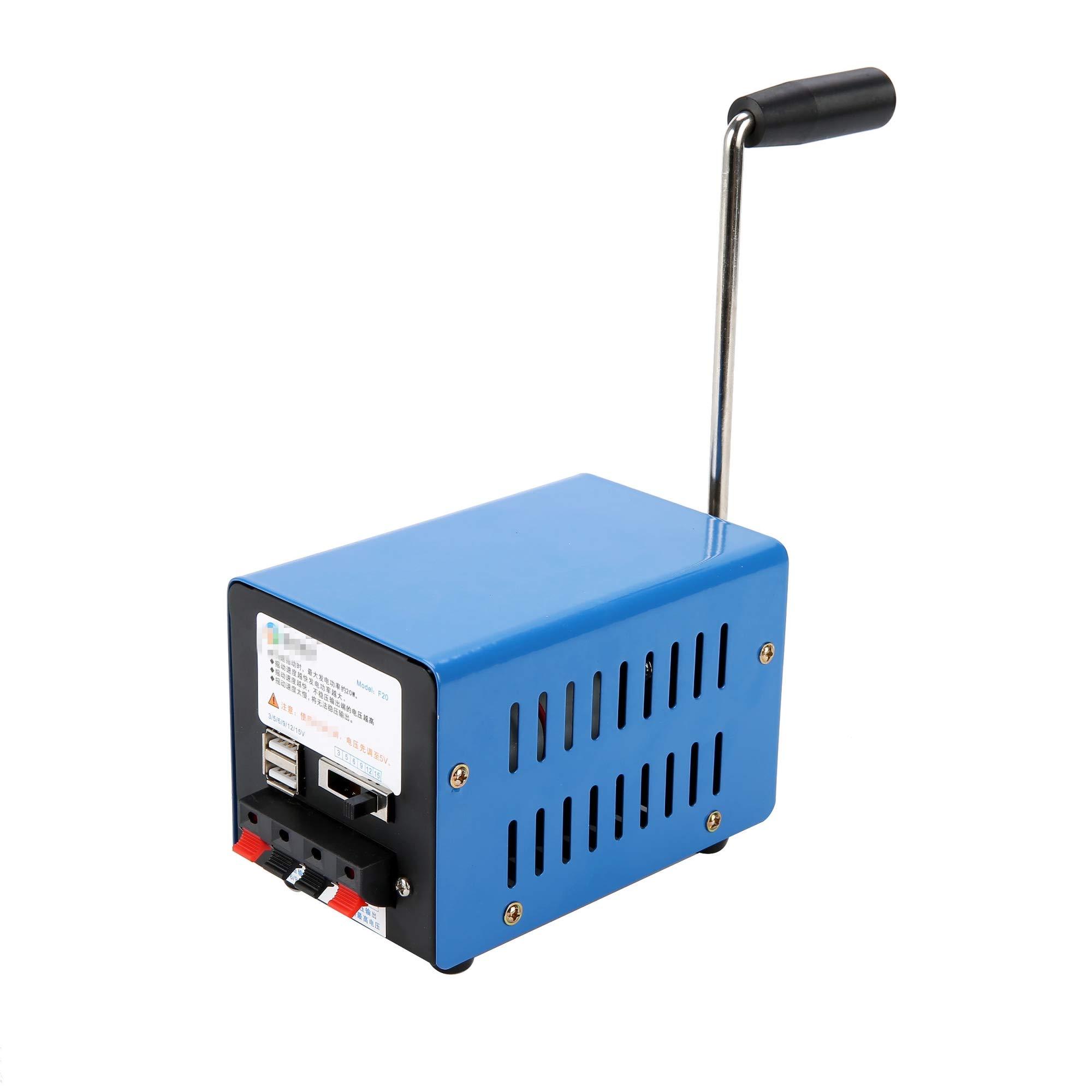 YAETEK Portable Generator Inverter Outdoor Multifunction Manual Crank Generator for Emergency Survival