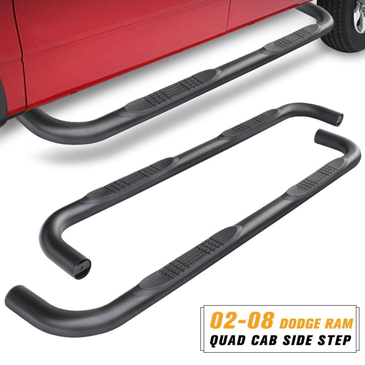 Cab Side Step Nerf Bars Crew Maxiii Running Board For Dodge Ram 1500 2500 3500 Quad