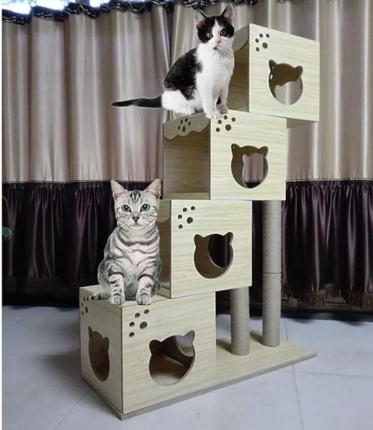 QNMM Muebles para Gatos, Columpio para Gatos de Gran tamaño sisal ...