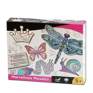 Mosaic Sticker Art Craft Kits for Kids Shimmer and Shine Sparkle Mosaics