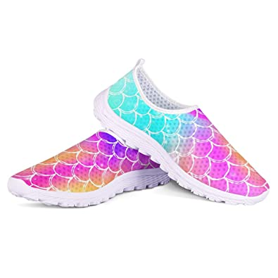 Amazon.com: KiuLoam Zapatillas de agua de sirena coloridas ...