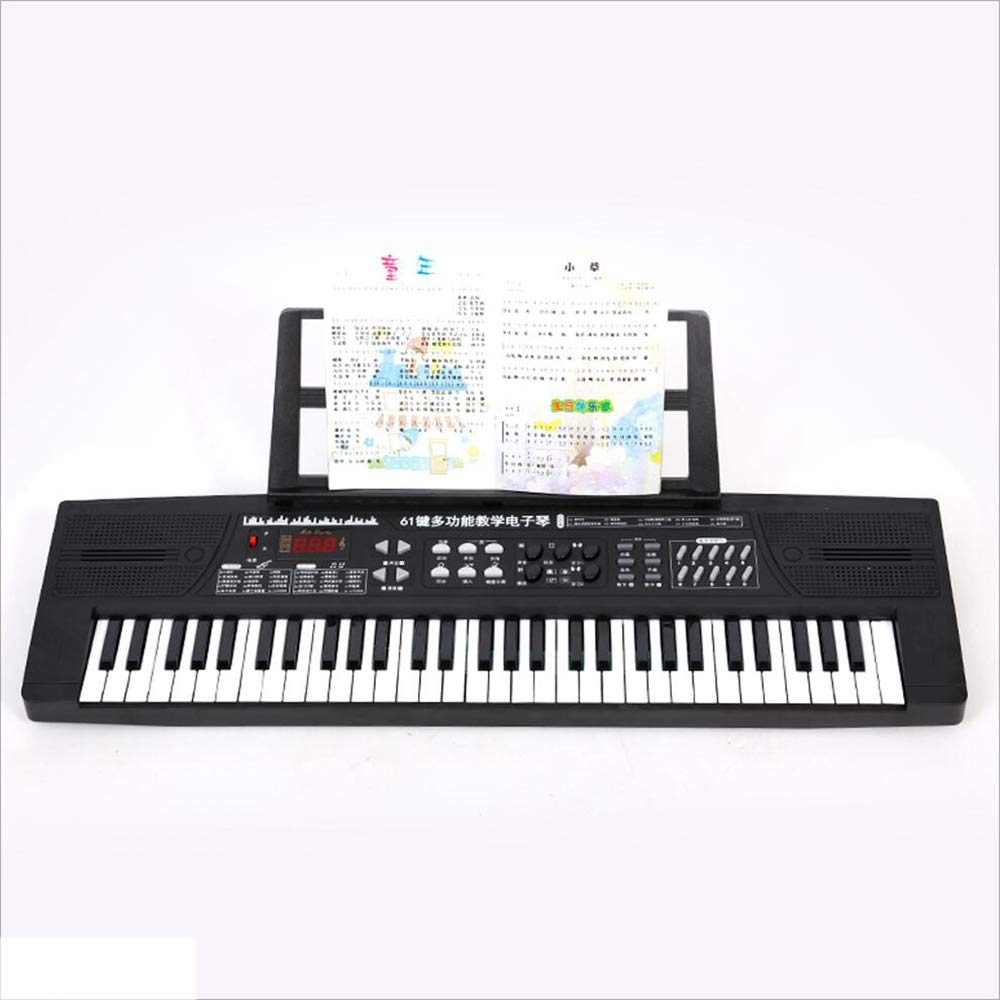 Amazon.com: Childrens Keyboard 61-Key Toy Piano Electric Piano Stand Multi-Function Cartoon Piano Pink Standard (Color : Black) : Toys & Games