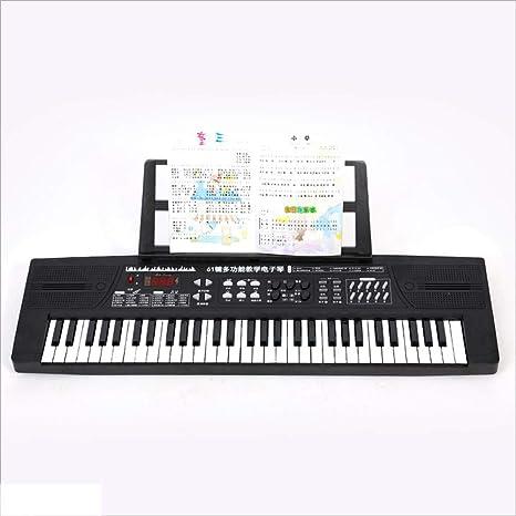 Teclado para niños 61 Teclas Piano de Juguete Piano eléctrico Soporte multifunción Piano de Dibujos Animados