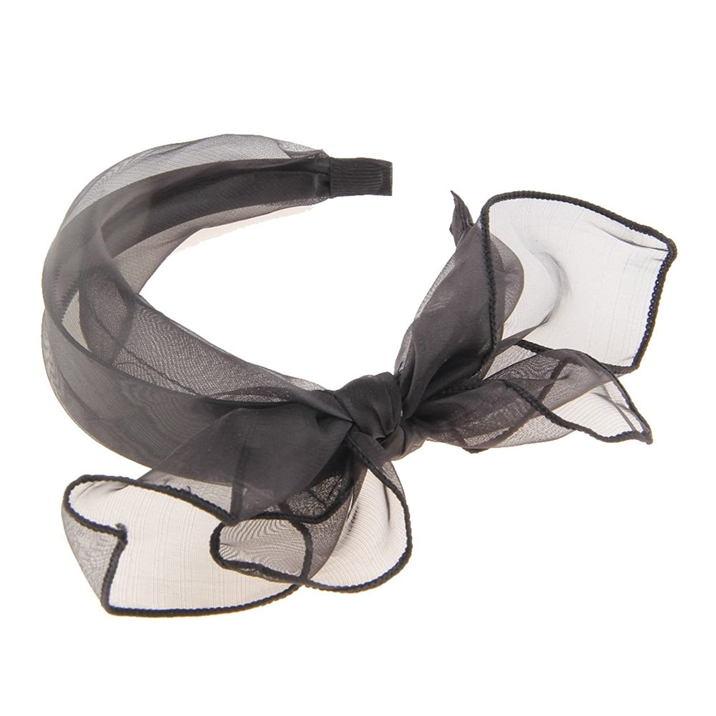 Sweet Bowknot Net Yarn Hair Hoop Women's Hair Accessories Hair Band Head Ring