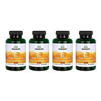 Swanson Vitamin E Mixed Tocopherols 400 Iu 250 Sgels 4 Pack