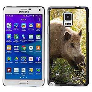 GoGoMobile Slim Protector Hard Shell Cover Case // M00118897 Animal Boar Brown Eye Forest Fur // Samsung Galaxy Note 4 IV