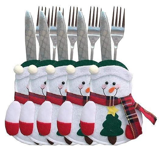 Fiesta Navidad tenedores cuchillos cubierta vajilla ...