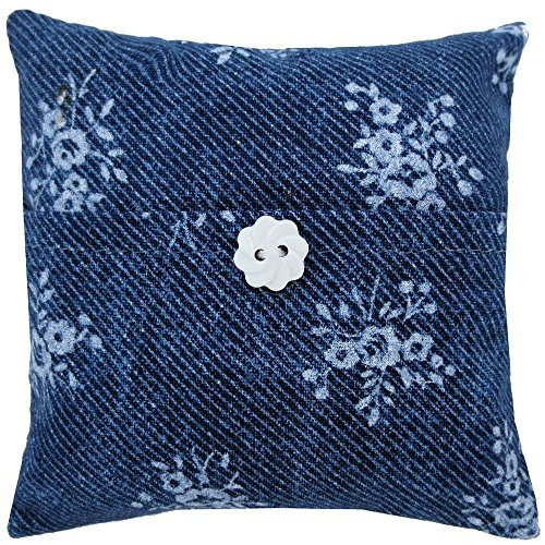 Navy Blue Tooth Fairy Pillow, Flower Print Fabric for Girls