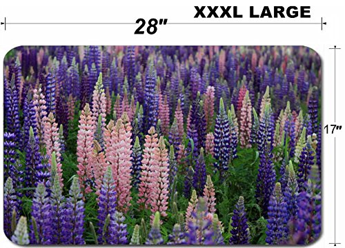 Luxlady Large Table Mat Non-Slip Natural Rubber Desk Pads IMAGE ID: 29578662 Thousands of colorful wild flowers blooming in Newfoundland (Newfoundland Flowers)