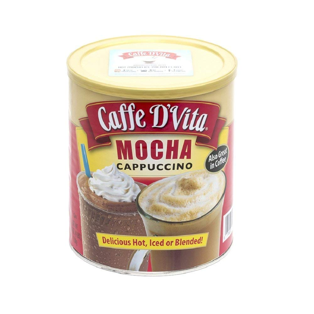Caffe D'Vita Mocha Cappuccino 64 Oz Exclusive Hot Mocha Float Recipe Sticker by Caffe D'Vita (Image #1)