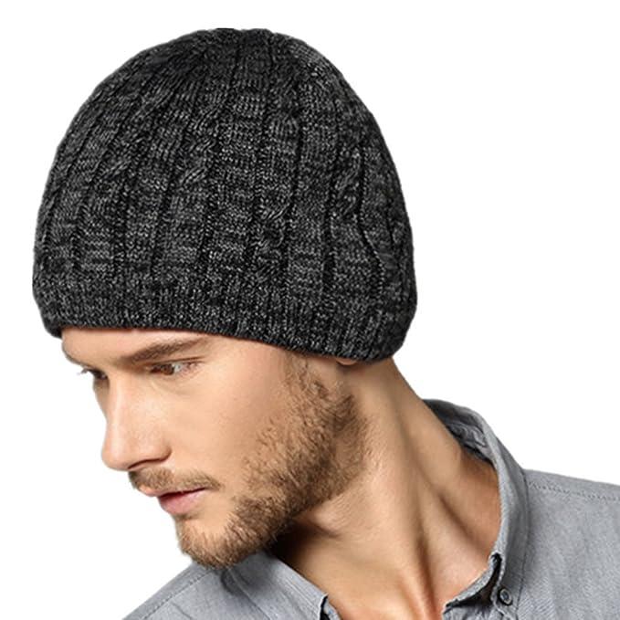 097dca3e368 Kenmont Men s Acrylic Knit Hat Warm Repellent Skull Beanie Cap Outdoor  Sports Hats For Autumn Winter