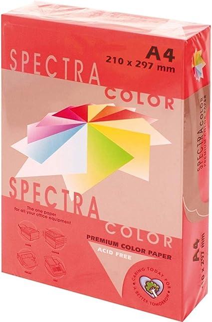 Spectra IT250 - Papel color, paquete 500 hojas, A4, rojo intenso: Amazon.es: Oficina y papelería