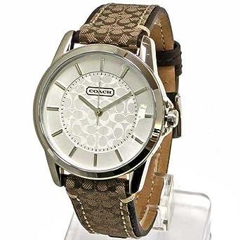 ce0af1182b2d (コーチ) COACH 腕時計 レディース 14601506 NEW CLASSIC SIGNATURE ニュー クラシック シグネチャー  ブラウン[並行
