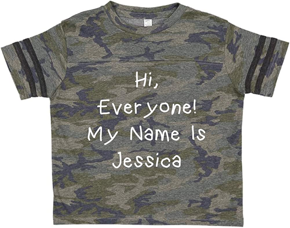 Everyone Hi My Name is Jessica Personalized Name Toddler//Kids Sporty T-Shirt