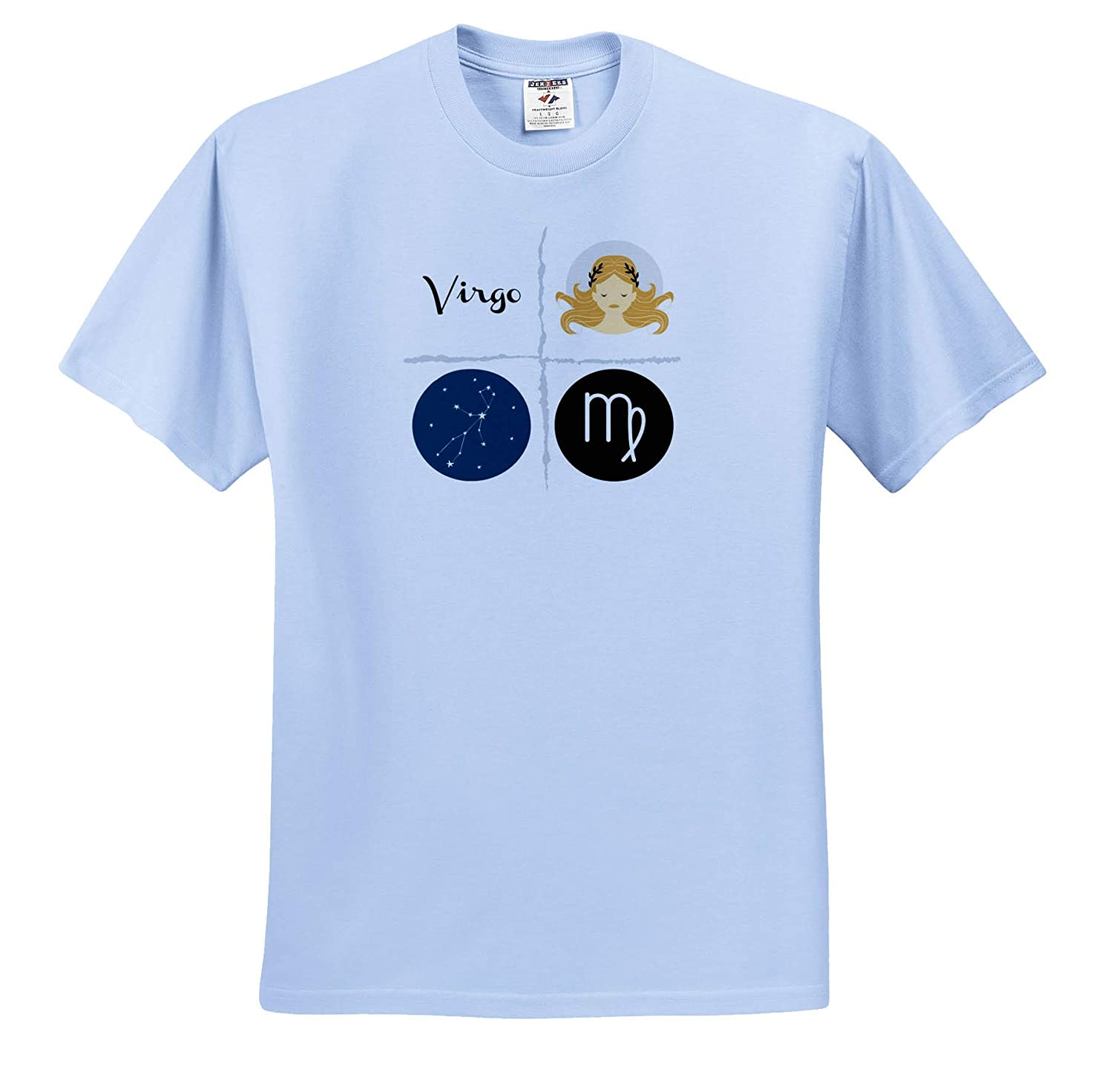 ts/_321046 3dRose Carrie Quote Image Adult T-Shirt XL Image of Virgo