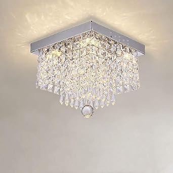 Cuadrado Simple Pasando Lámpara Salón Luz Led Techo Cristal ...