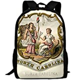 ZQBAAD North Carolina State Coat Of Arms Luxury Print Men And Women's Travel Knapsack