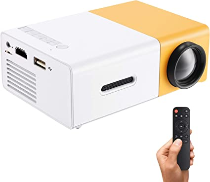 Gunor Mini Projector, YG300 Portable LED Projector Support PC Laptop USB Stick USB/SD/AV/HDMI Input for Video/Movie/Game/Home Theater Video Projector, ...