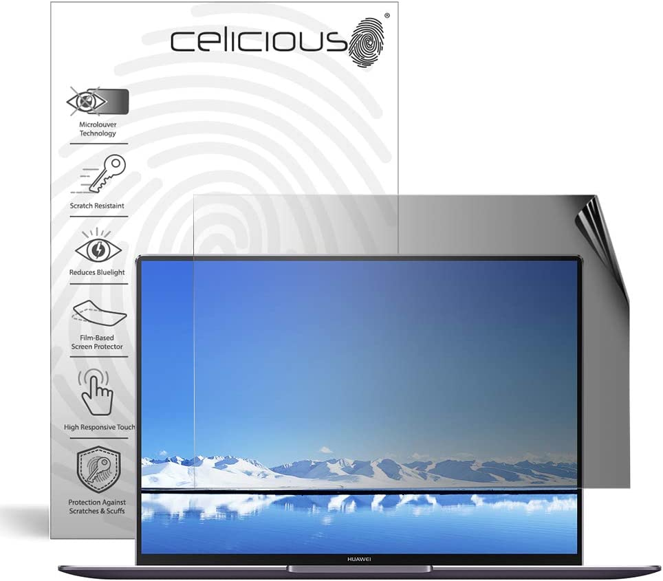 2-Way Anti-Glare Anti-Spy Filter Screen Protector Film Compatible with Honor 8 Lite Landscape Celicious Privacy Lite